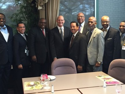 Adventist world church president Ted N.C. Wilson meeting with leaders of the church's nine U.S. regional conferences. Image by ANN