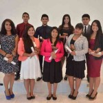First group of students enrolled in the new law degree at Montemorelos University pose with a judge's mallet as a symbol of the values that should guide them during their career and profesional work. Image by Montemorelos University