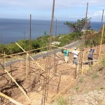 A few church member volunteers from North Caribbean region help in the building of a home for a family left homeless from Tropical Storm Erika back in August 2015. ADRA is leading in the rebuilding in an initial eight homes in Cohualta, Dominica. Images courtesy of Henry Peters/IAD