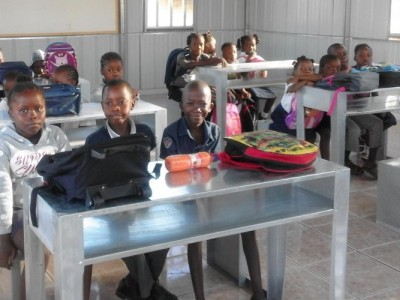 Students attending a class at the Mavuluma Adventist Primary School in Katima Mulilo, Namibia. Images by Maranatha