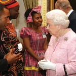Bal Kama meeting Queen Elizabeth II at an awards ceremony in London. Image by Sonja Larsen via Adventist Record
