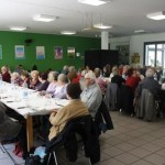 """Senior residents sharing a meal at """"Lunch Together."""" Image courtesy of the Inter-European Division"""