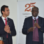 Gabriel Villarreal on left, Ganoune Diop right. Image by ADRA Colombia