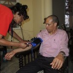 One of the 186 Cuban residents who received free medical services. Image by courtesy of Washington Adventist University
