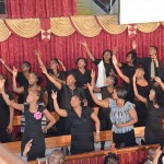 Members of the deaf choir performs one of their special songs during the service. Images by Ruth Ann Brown