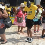 Ladies join a member of the NCU FM team in a dance routine when NCU FM 14 in 14 Education Wellness roadshow stopped in Montego Bay, Jamaica last month. Images courtesy of NCU