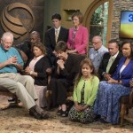 Team members praying for the London meetings in a 3ABN studio in Thompsonville, Illinois, as they left this week. Image by 3ABN