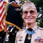 Desmond Doss with his Medal of Honor, the highest U.S. military honor. (Desmond Doss Council)