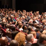 The auditorium was full for church on Sabbath at Annual Council in Silver Spring, MD, USA. Image by Brent Hardinge/ANN