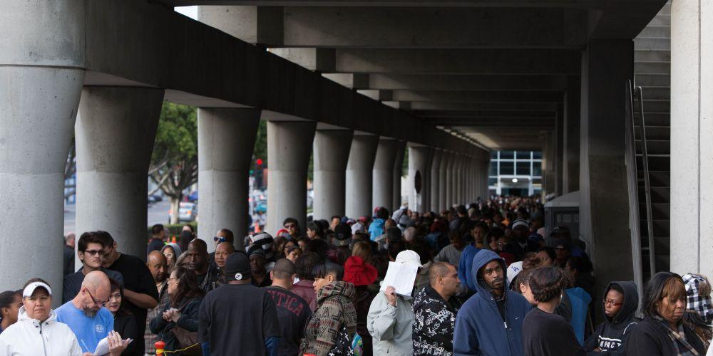 Crowds line up for free mega-clinic in the
